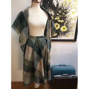 Flawless Vintage Skirt and Matching Shawl Set
